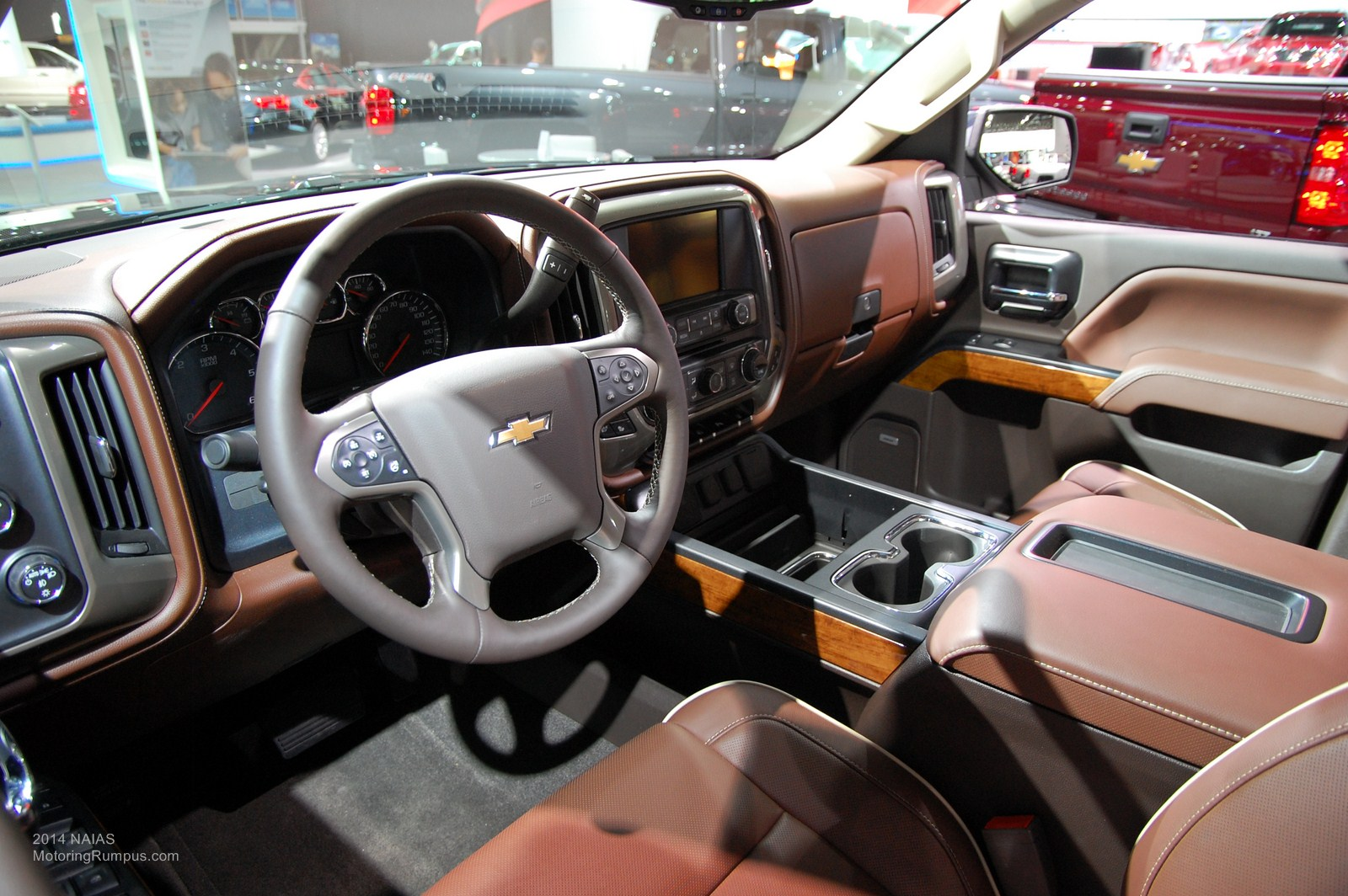 2014 Naias Chevy Silverado High Country Interior Motoring Rumpus
