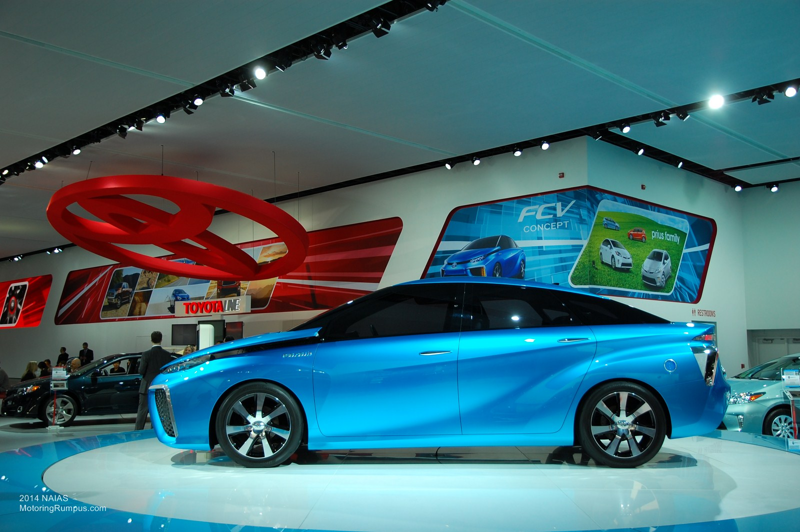 2014 Naias Toyota Fcv Concept Side Motoring Rumpus