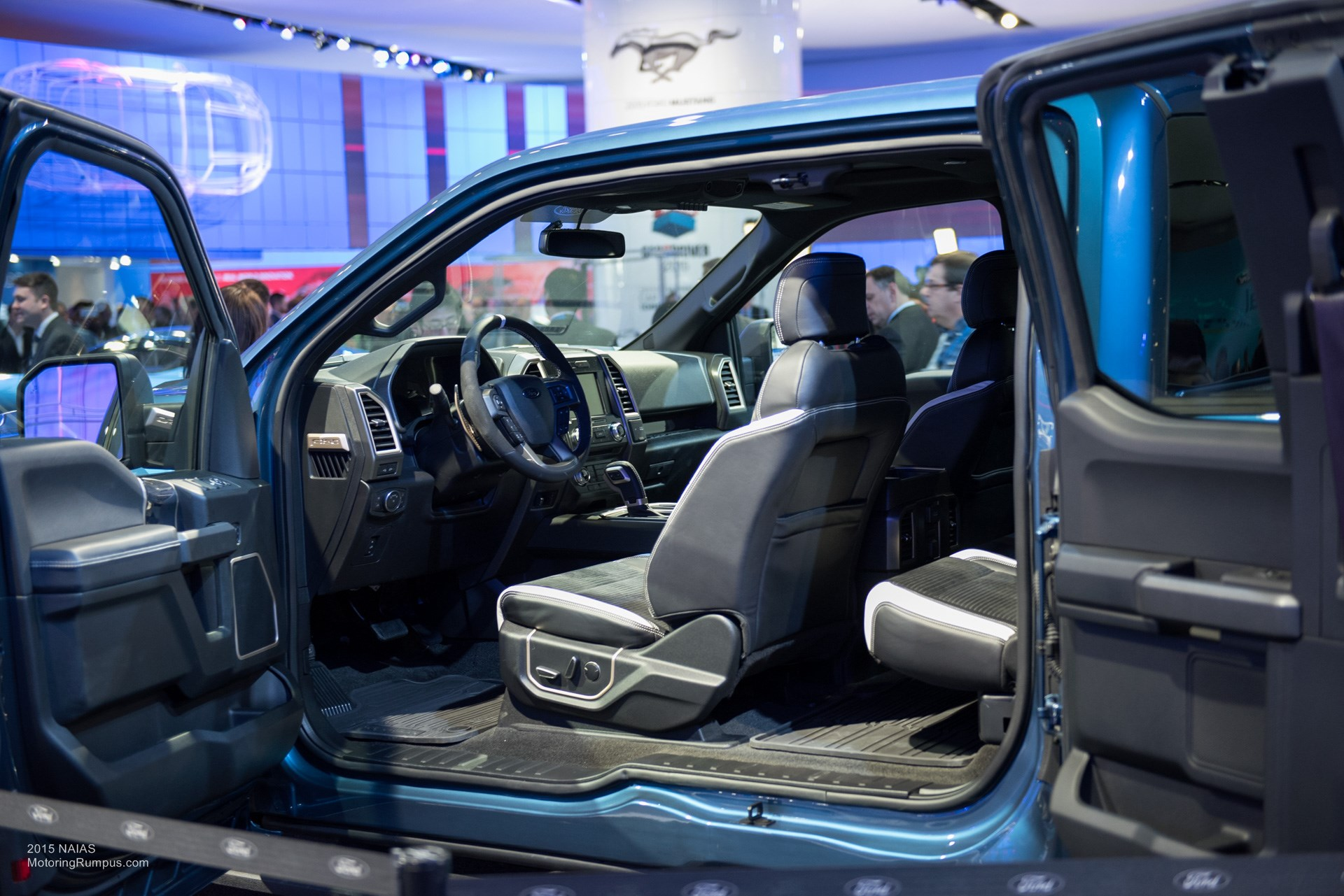 2015 NAIAS – 2017 Ford F-150 Raptor Interior - Motoring Rumpus