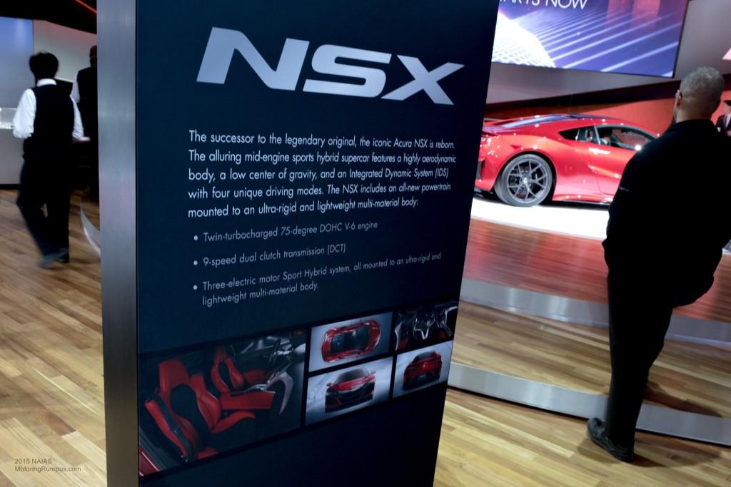 2015 NAIAS Acura NSX Info
