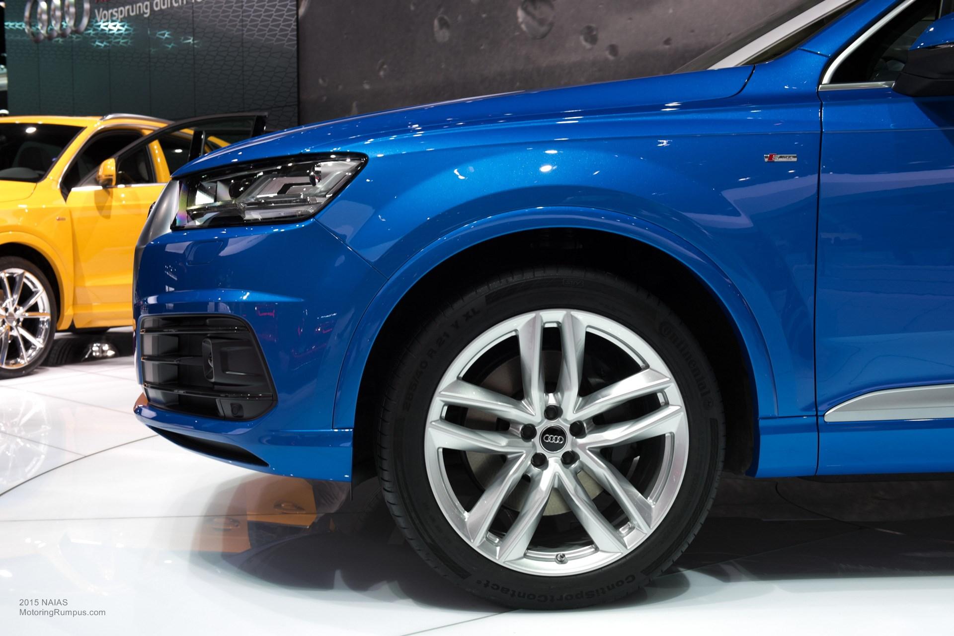 2015 Chevy Camero 2015 NAIAS Audi Q7 21-inch Wheels - Motoring Rumpus