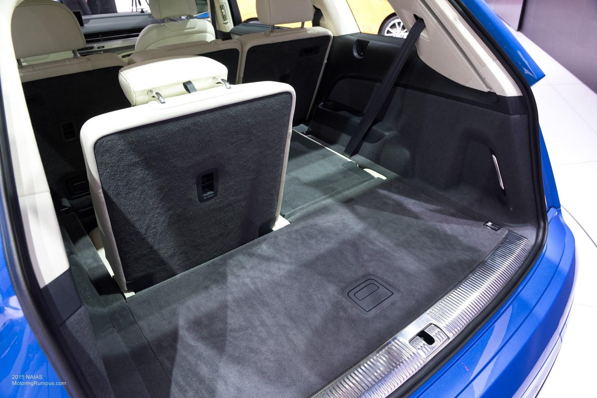 2015 NAIAS Audi Q7 Third Row Seats - Motoring Rumpus
