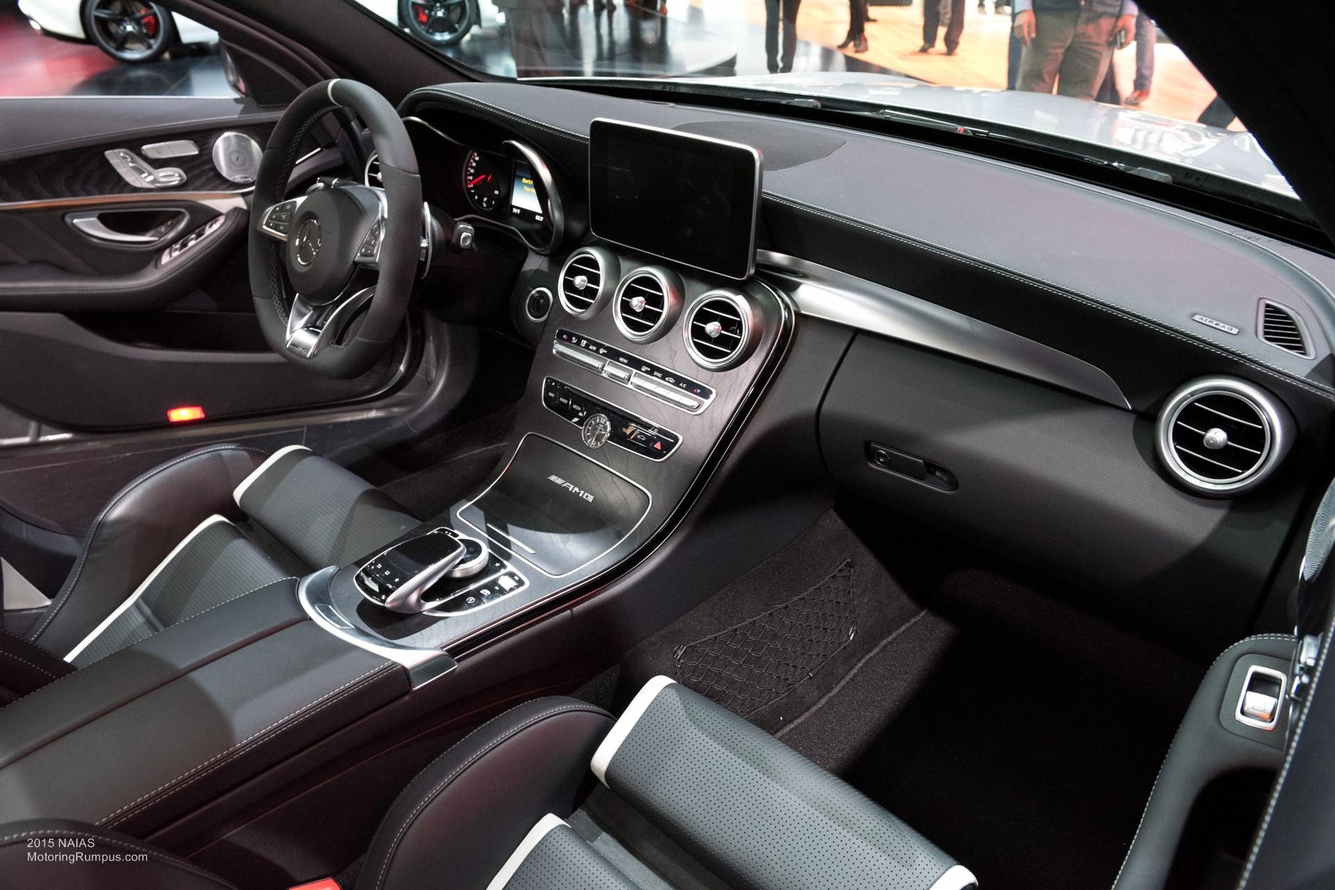 2015 NAIAS Mercedes-AMG C63 S Interior - Motoring Rumpus  2015 NAIAS Merc...