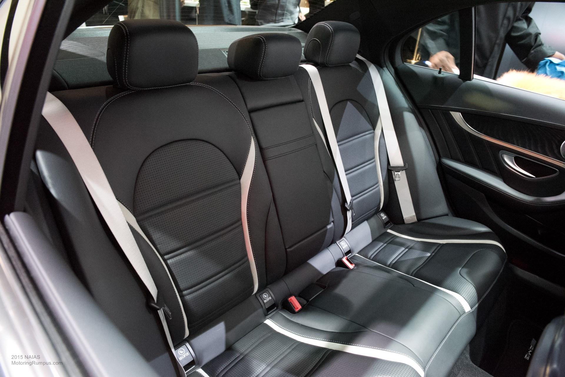 2015 NAIAS Mercedes-AMG C63 S Rear Seats - Motoring Rumpus
