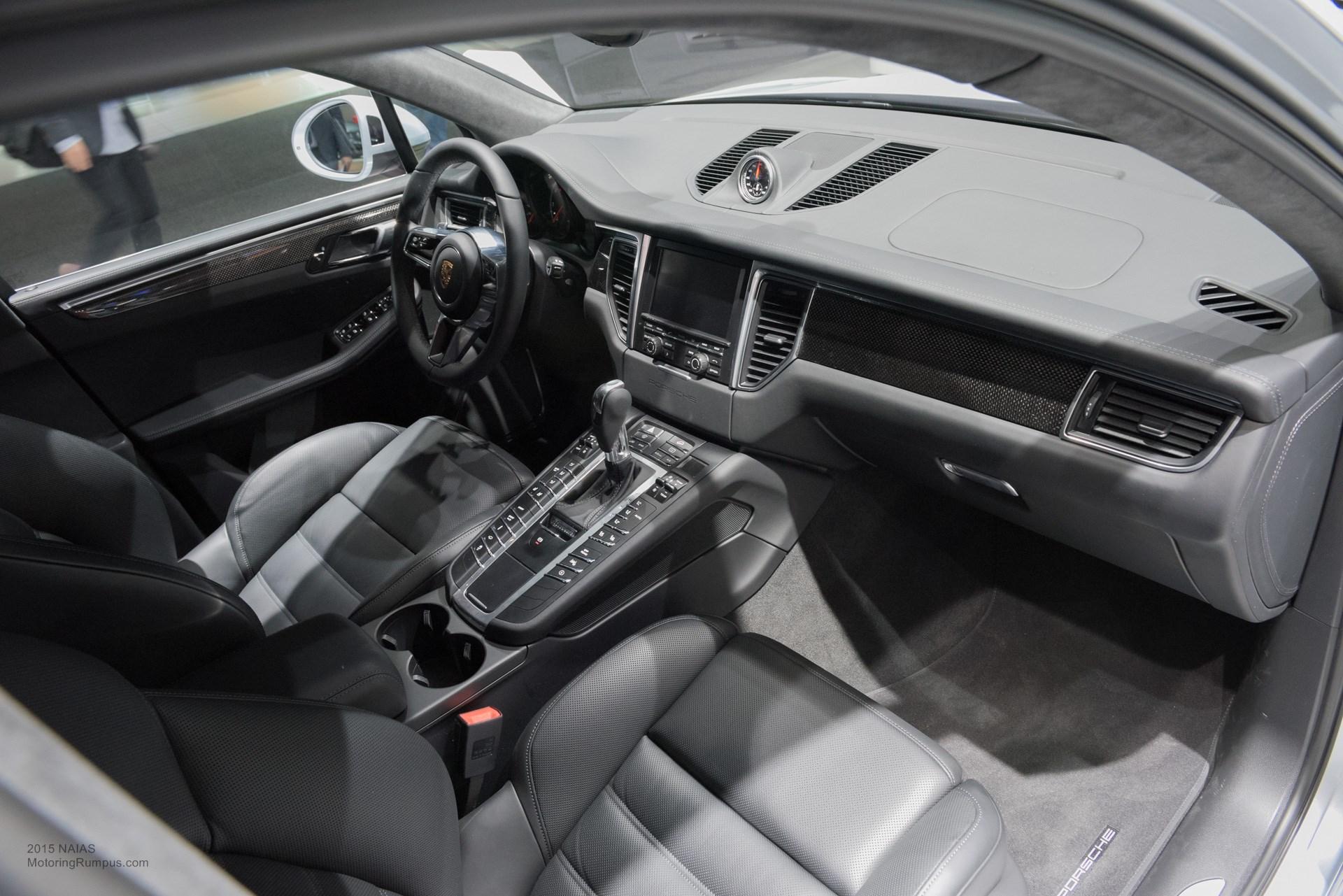 2015 Naias Porsche Macan Turbo Interior Motoring Rumpus