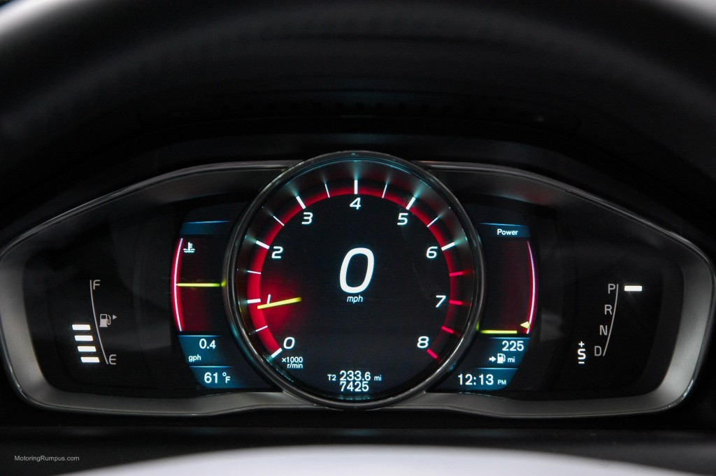 2015 Volvo XC60 Instrument Cluster Performance Display Mode