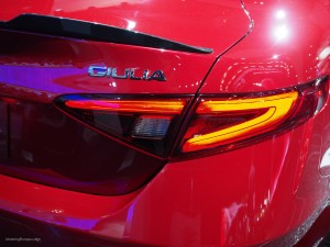 2016 NAIAS Alfa Romeo Giulia Quadrifoglio Tail Light