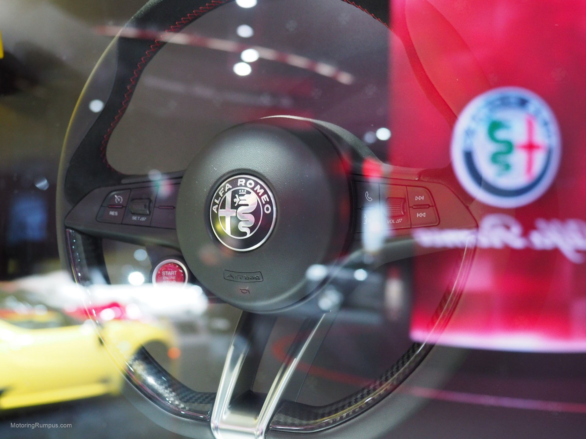 2016 Naias Alfa Romeo Giulia Steering Wheel Motoring Rumpus