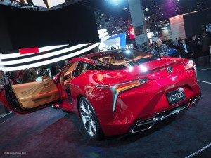 2016 NAIAS Lexus LC 500 Rear