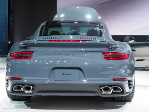 2016 NAIAS Porsche 911 Turbo Rear