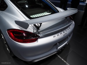 2016 NAIAS Porsche Cayman GT4 Rear Wing