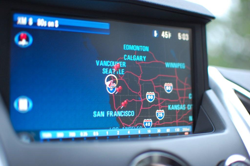 2012 Cadillac SRX Navigation Night Mode
