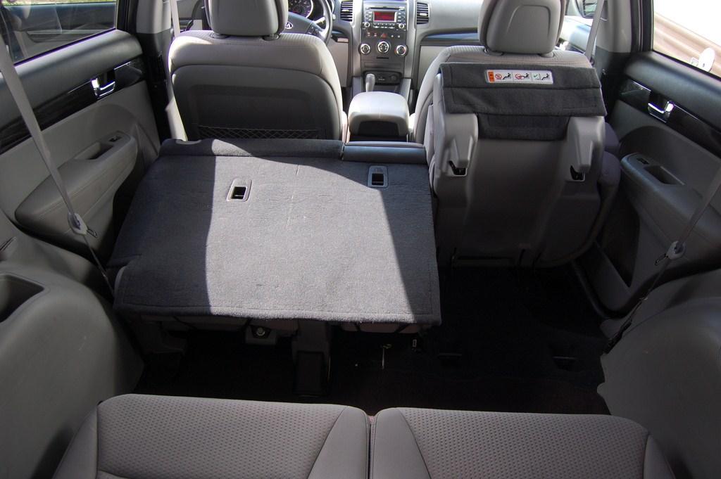 Folded 2nd row seats