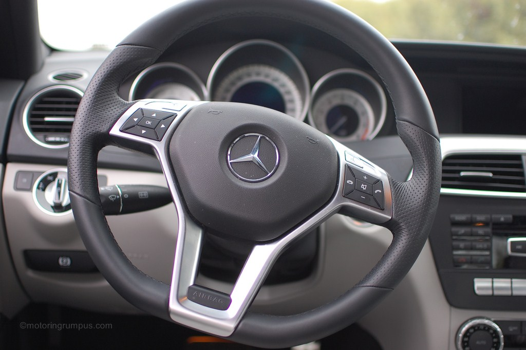 2012 Mercedes-Benz C250 3-spoke Multifunction Steering Wheel