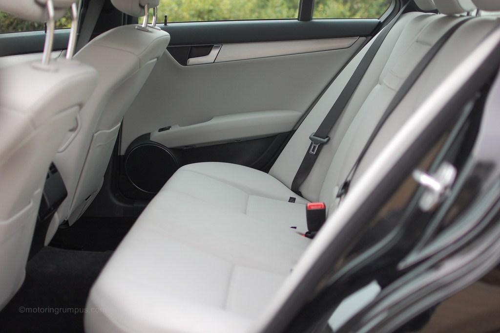 2012 Mercedes-Benz C250 Rear Seats Ash MB-Tex
