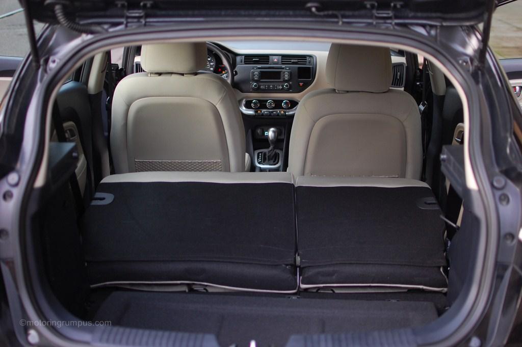 2013 Kia Rio 5 Door Split Folding Rear Seats Motoring Rumpus