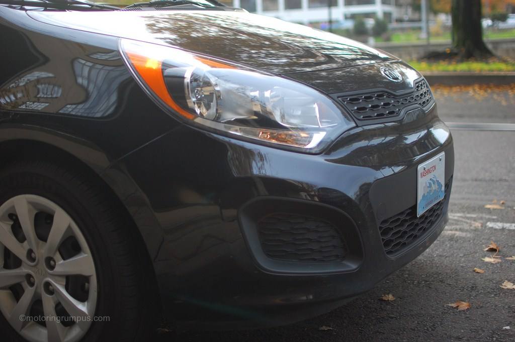2013 Kia Rio Lx Headlights Motoring Rumpus