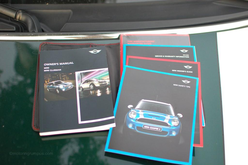 2012 Mini Cooper Owner's Manual