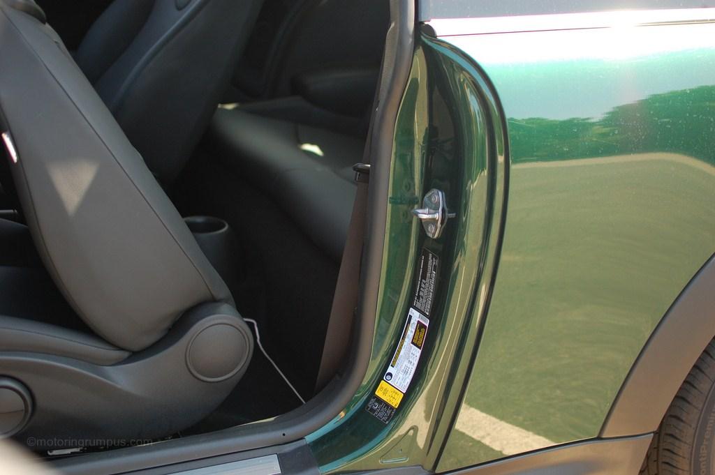 2012 Mini Cooper Rear Access