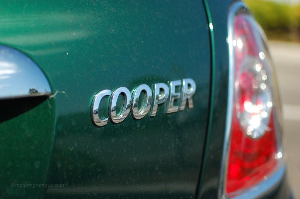 2012 Mini Cooper Rear Badge