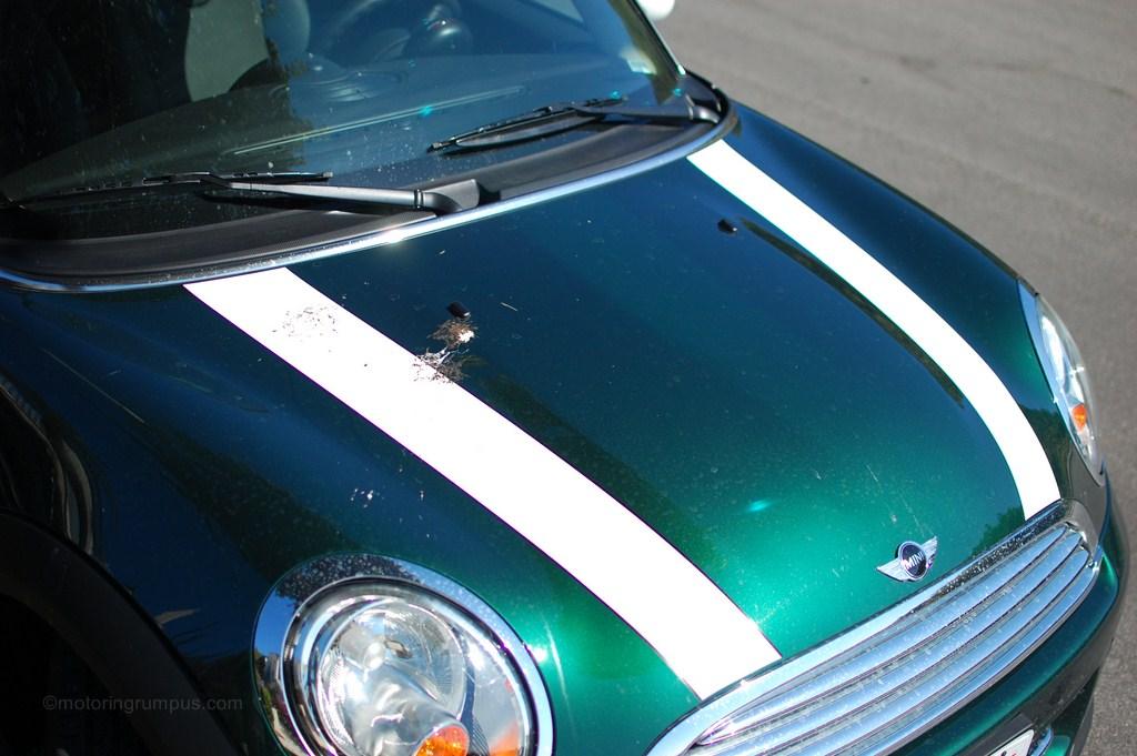 2012 Mini Cooper White Bonnet Stripes