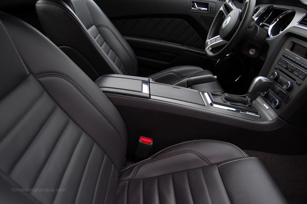 2013 Ford Mustang Charcoal Black Leather Interior