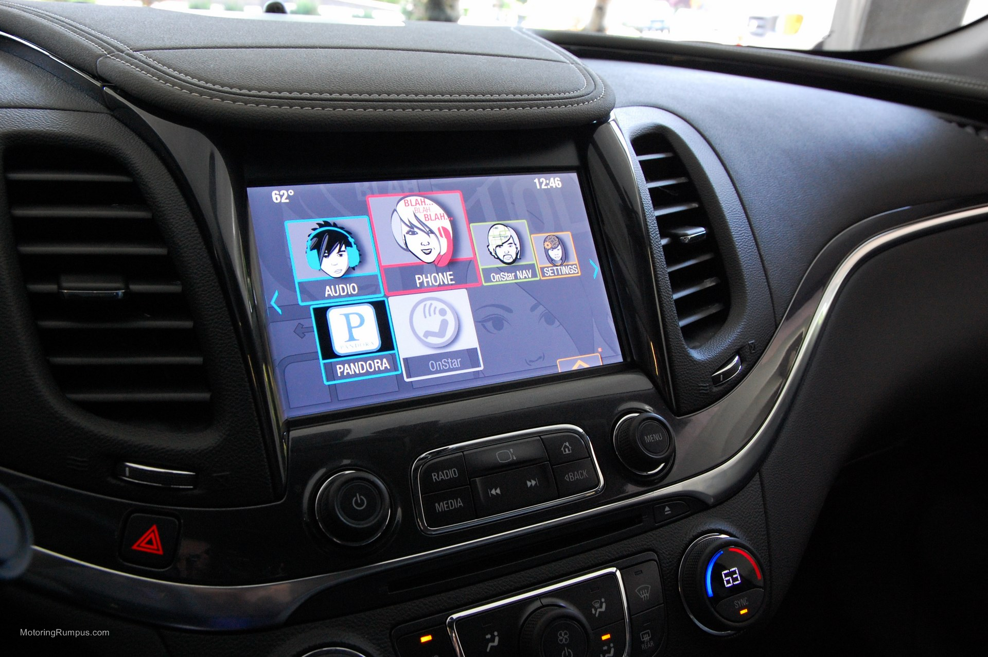 2014 Chevy Impala 8-inch Touchscreen