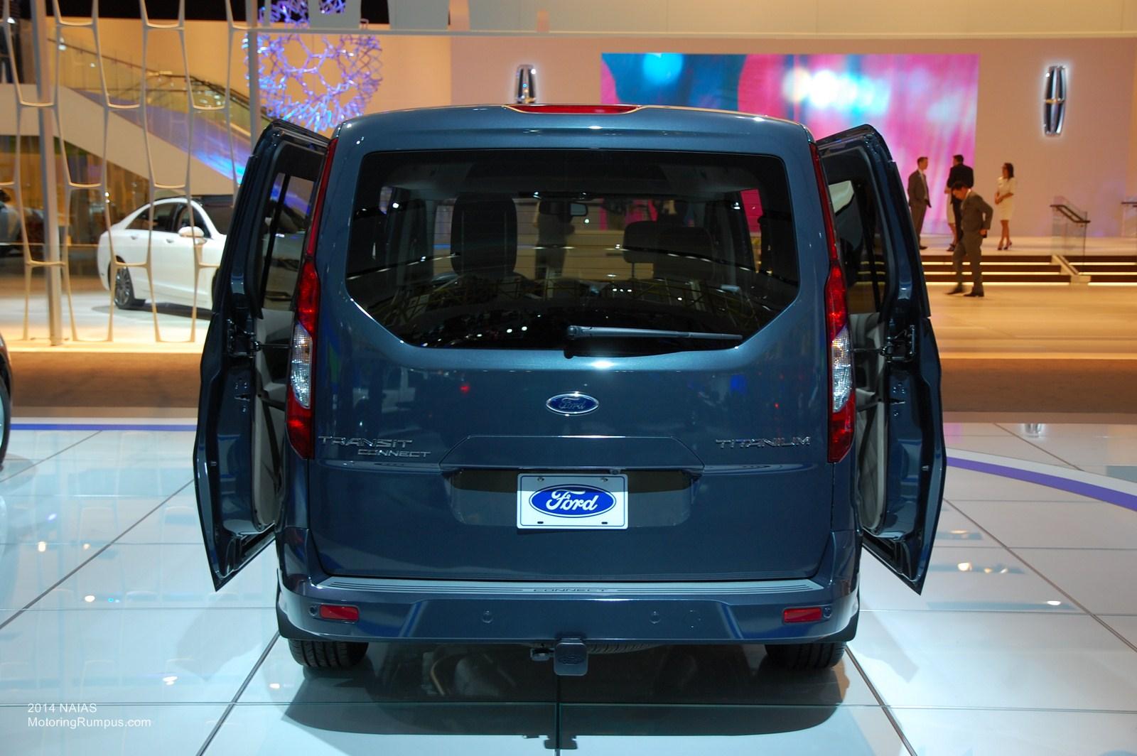 2014 NAIAS Ford Transit Connect Titanium Wagon Rear