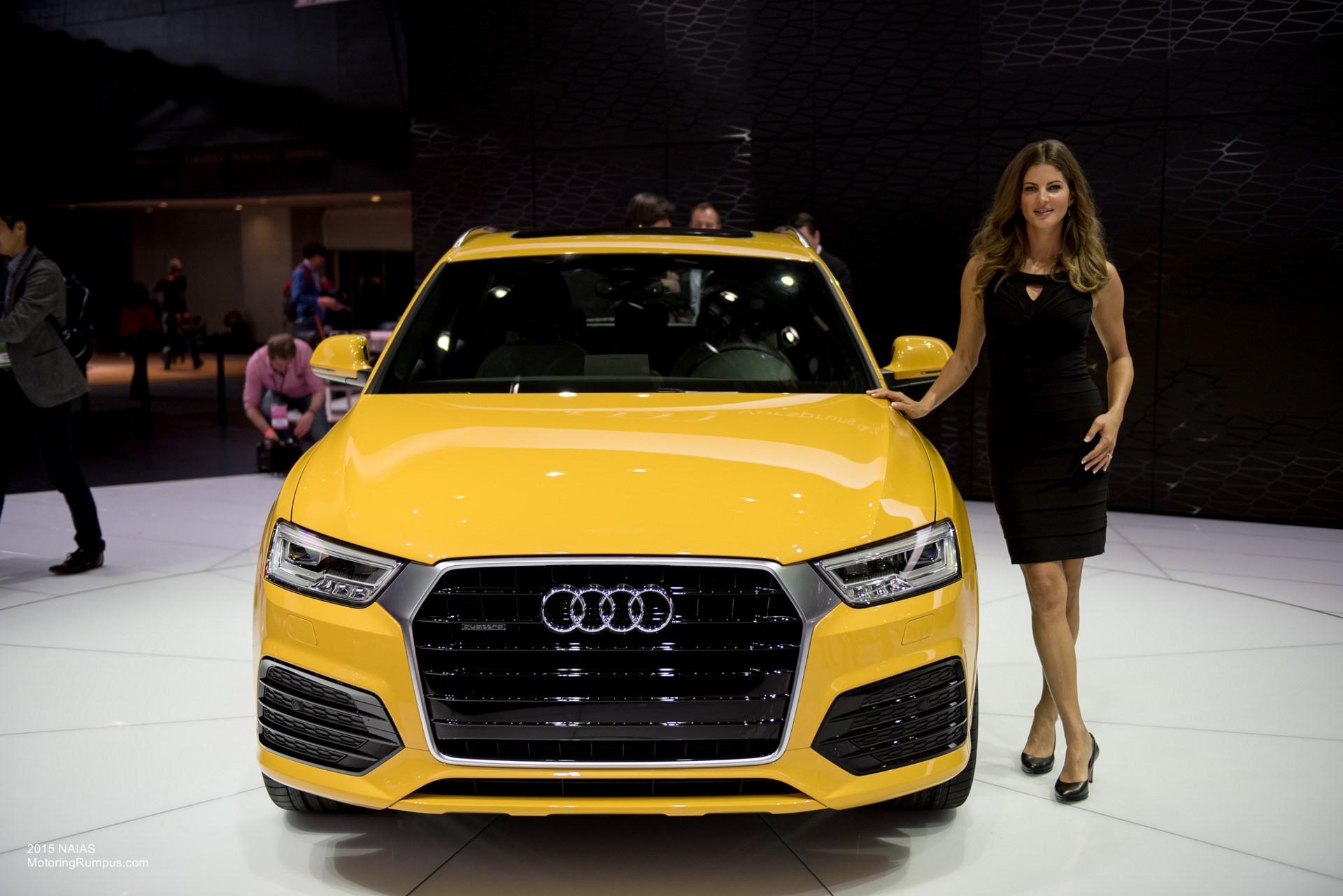 2015 NAIAS Audi Q3 Mango Yellow