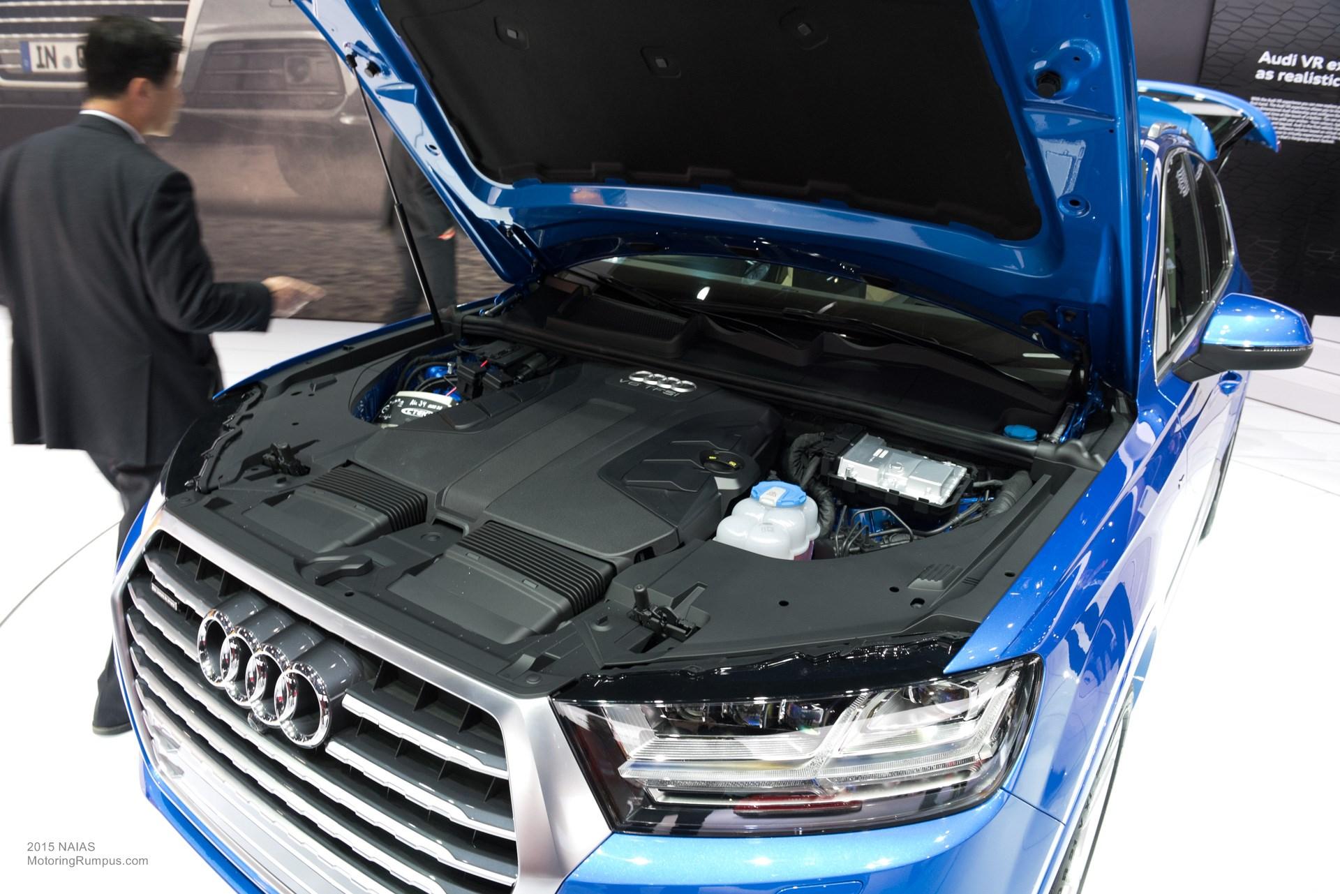 2015 NAIAS Audi Q7 Engine