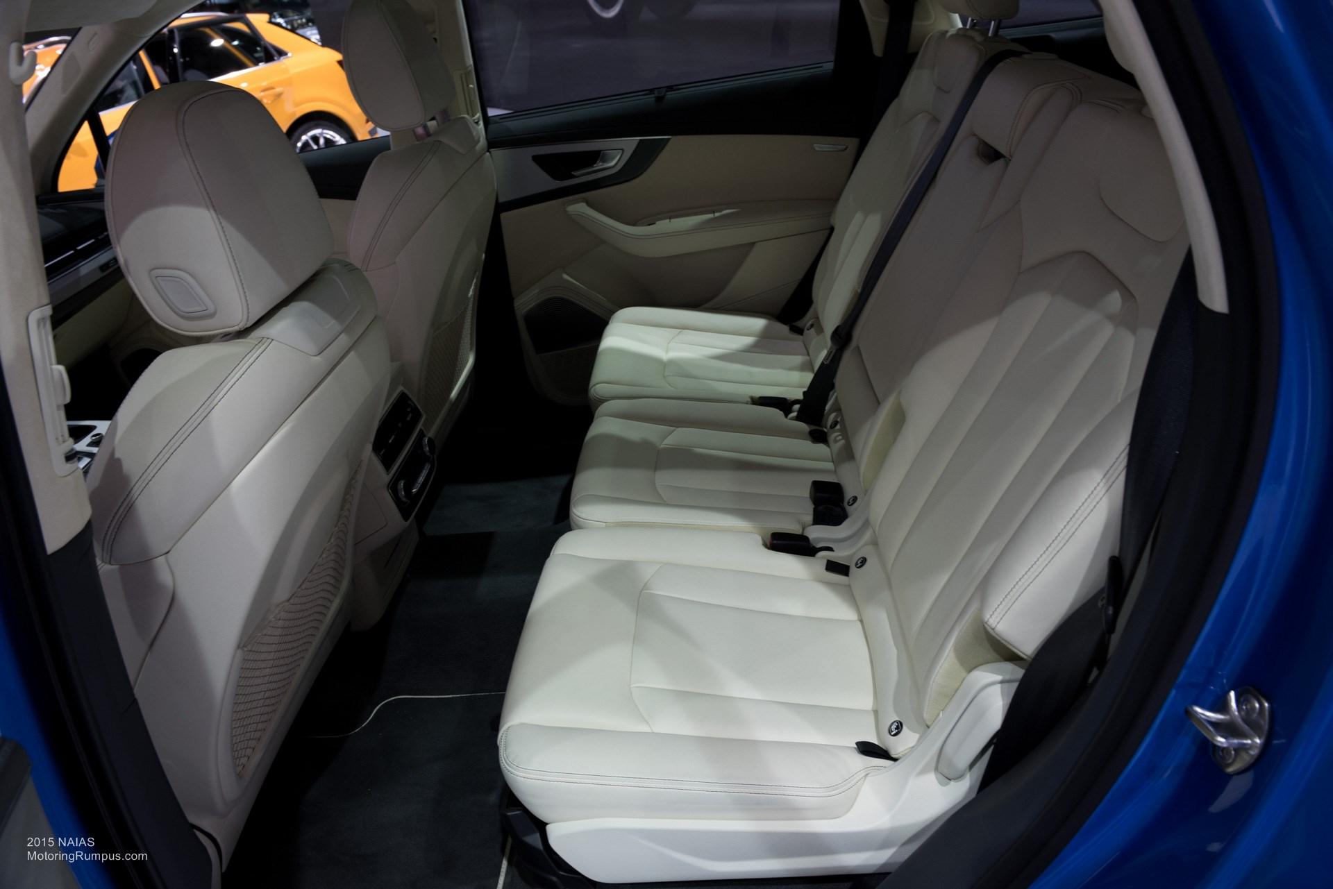 2015 NAIAS Audi Q7 Rear Seats