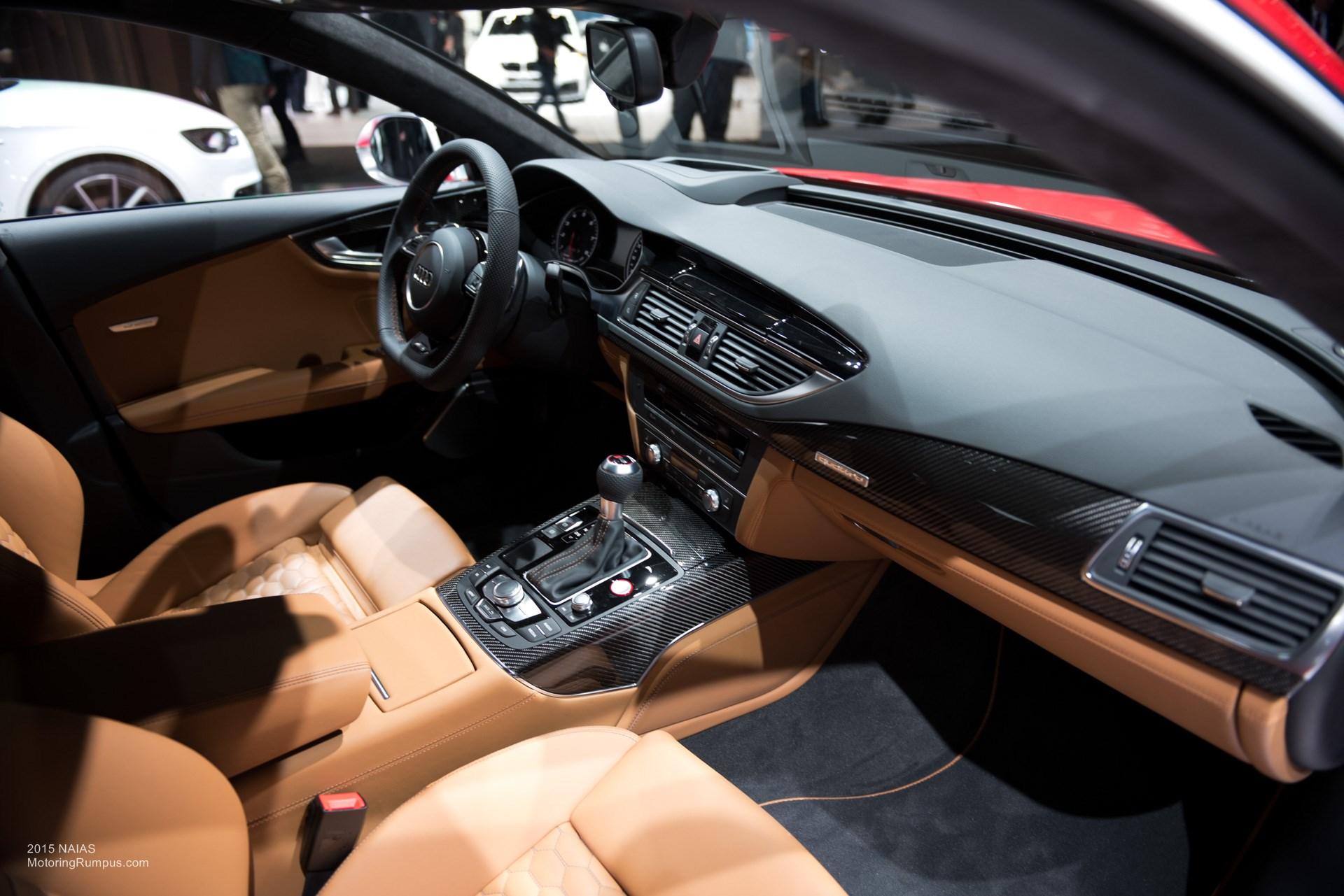 2015 NAIAS Audi RS7 Brown Interior