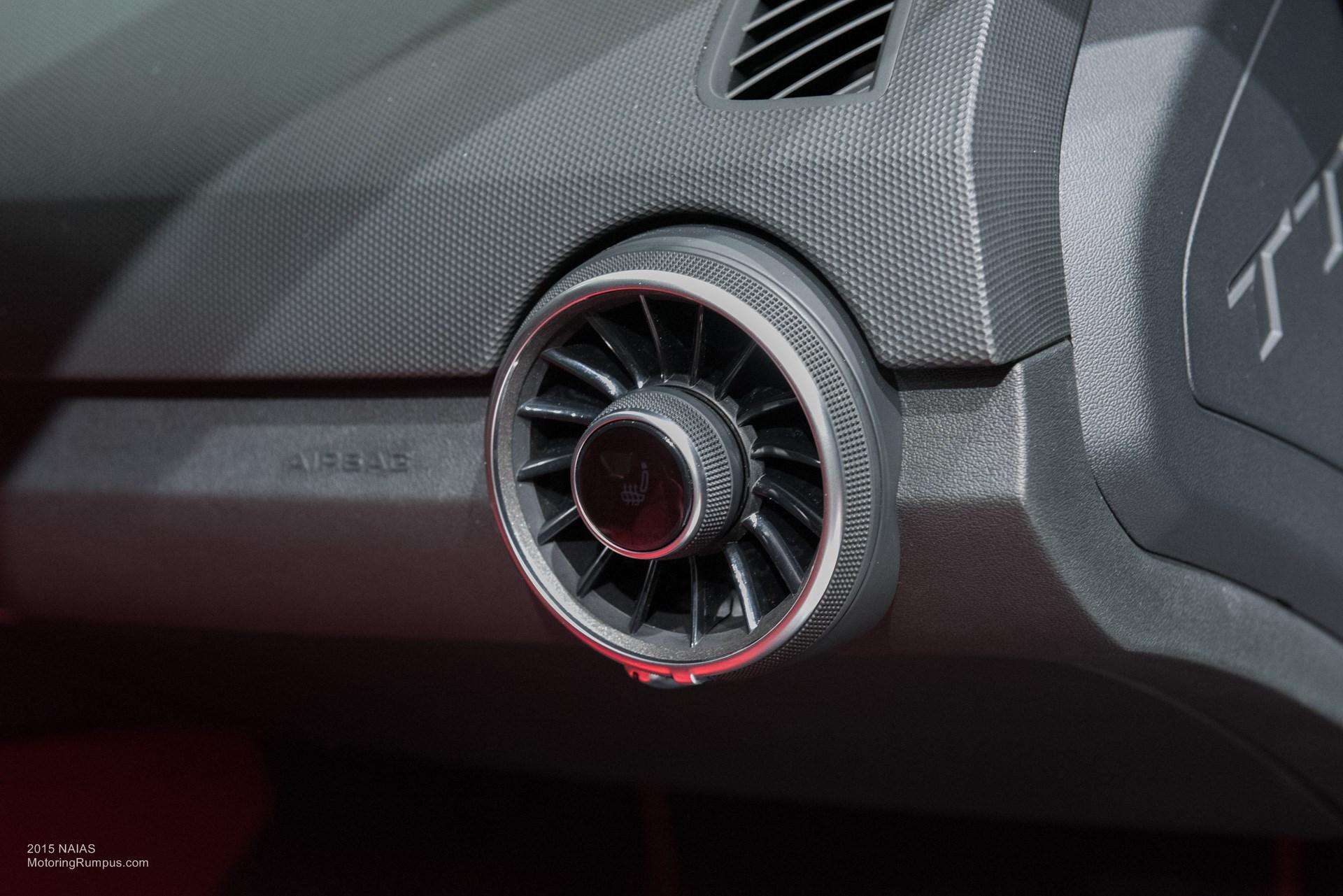 2015 NAIAS Audi TTS Heated Seat Button