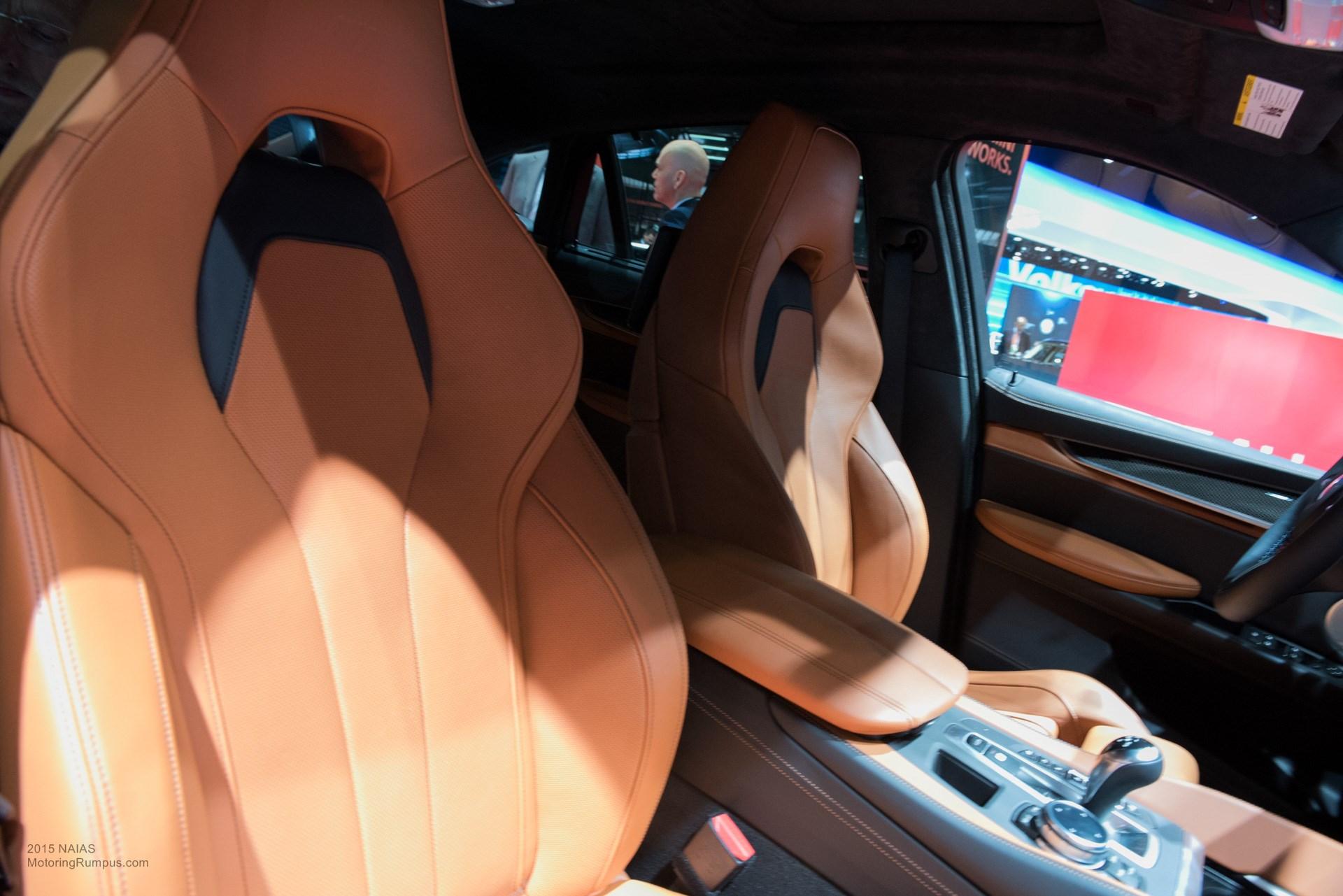 2015 NAIAS BMW X6M Seats