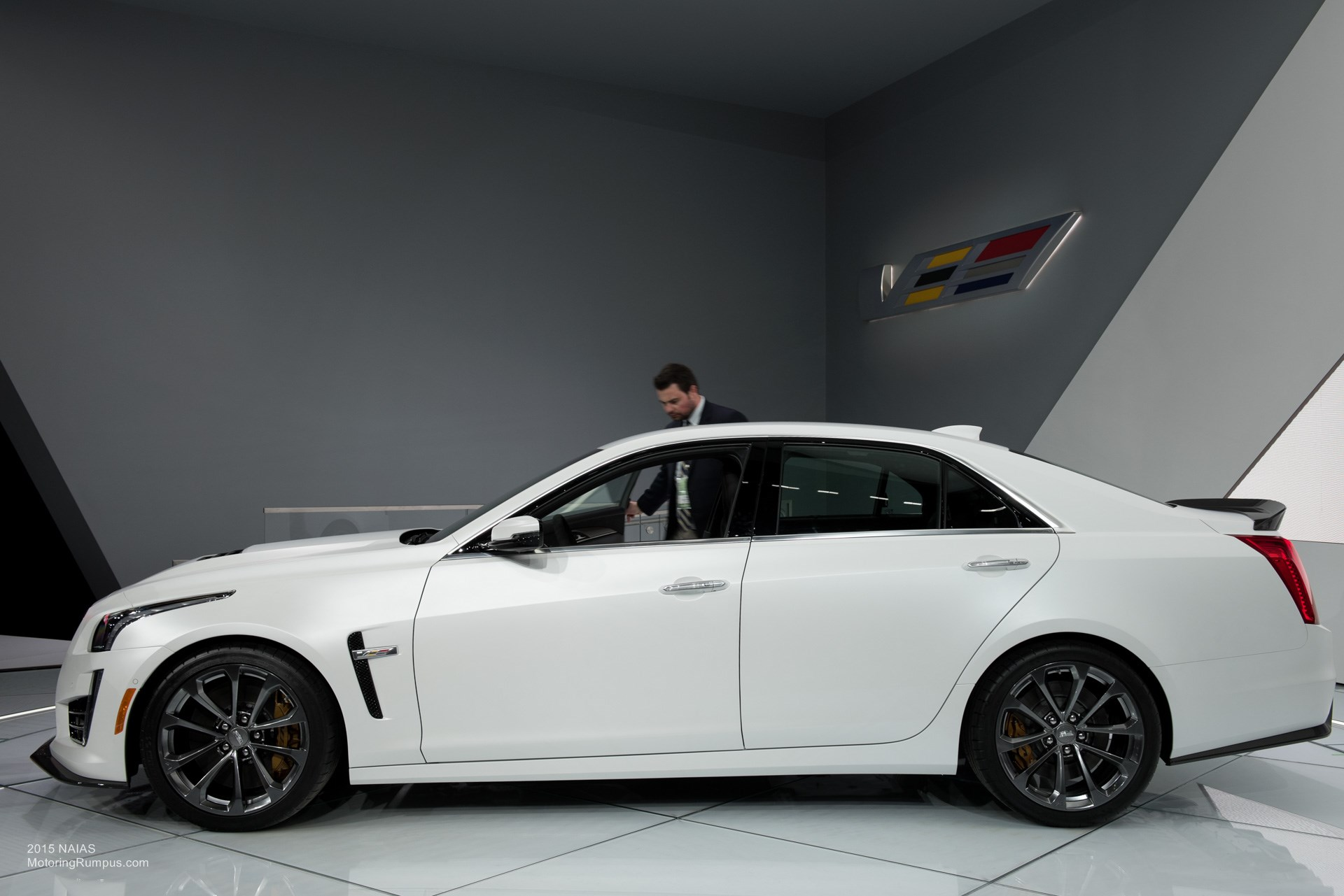 2015 NAIAS Cadillac CTS-V Side
