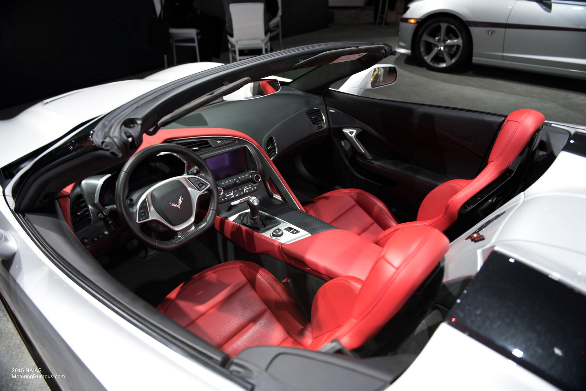 2015 NAIAS Chevy Corvette Stingray Convertible Red Interior