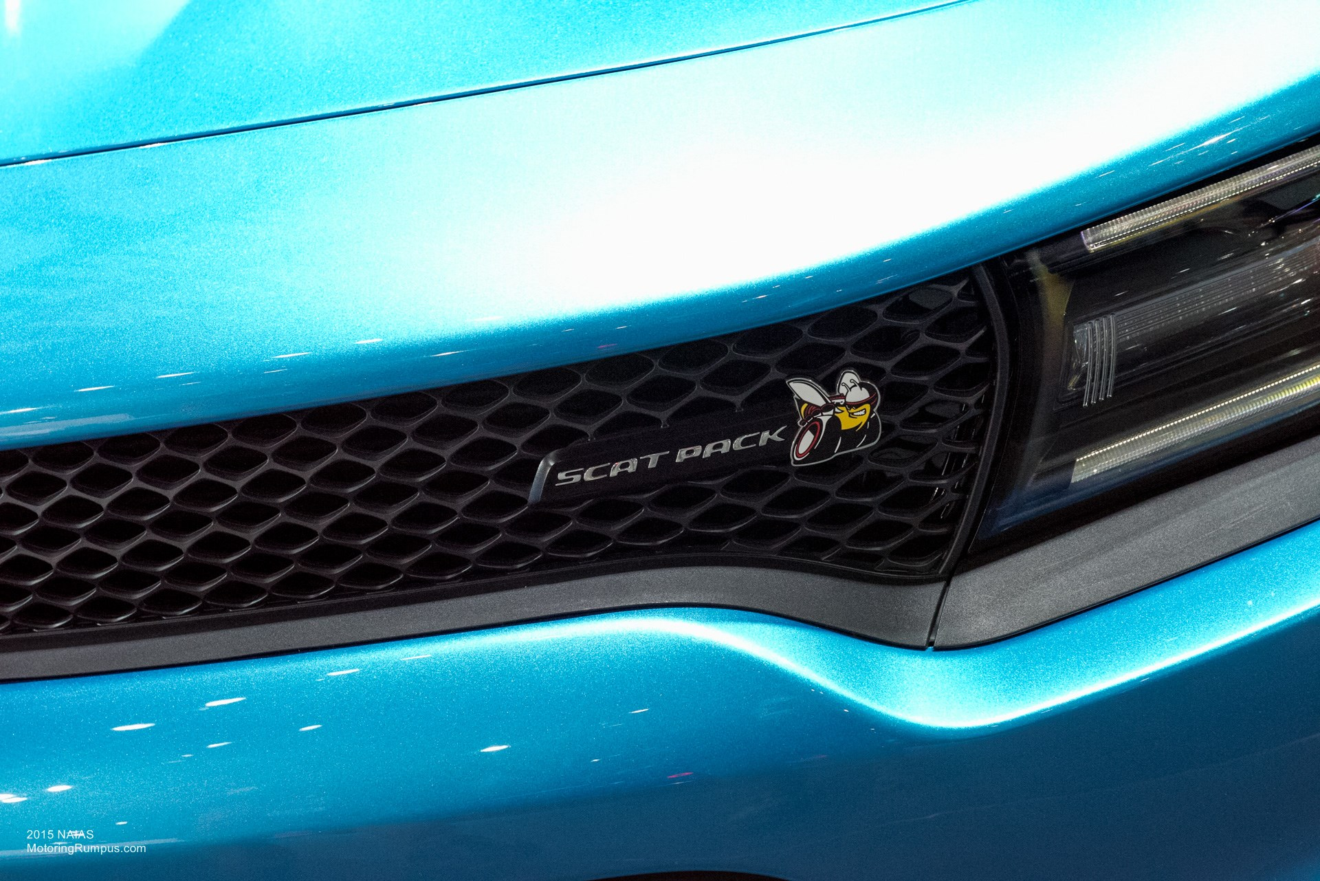 2015 NAIAS Dodge Charger Scat Pack Grille Badge