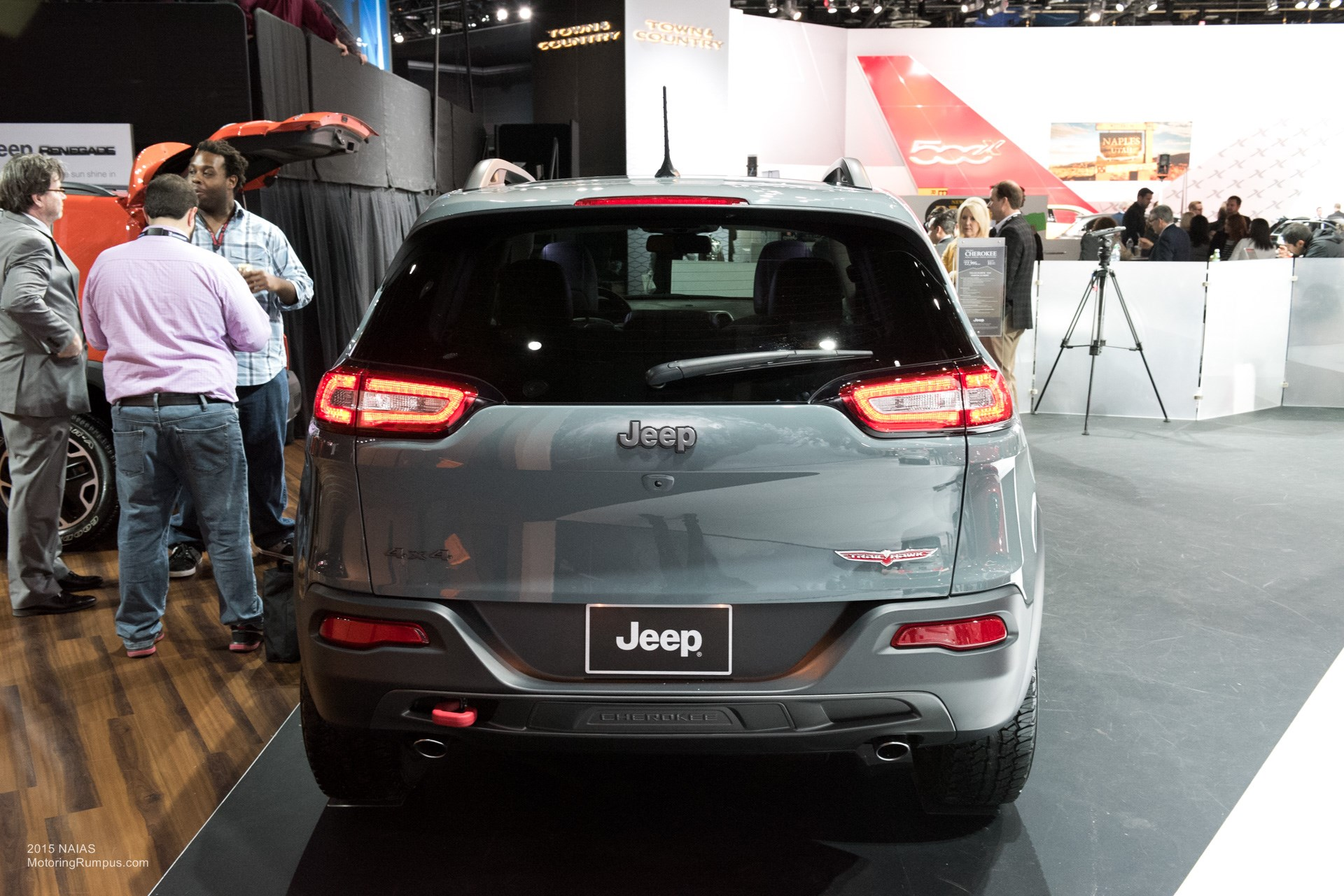2015 NAIAS Jeep Cherokee Trailhawk Rear