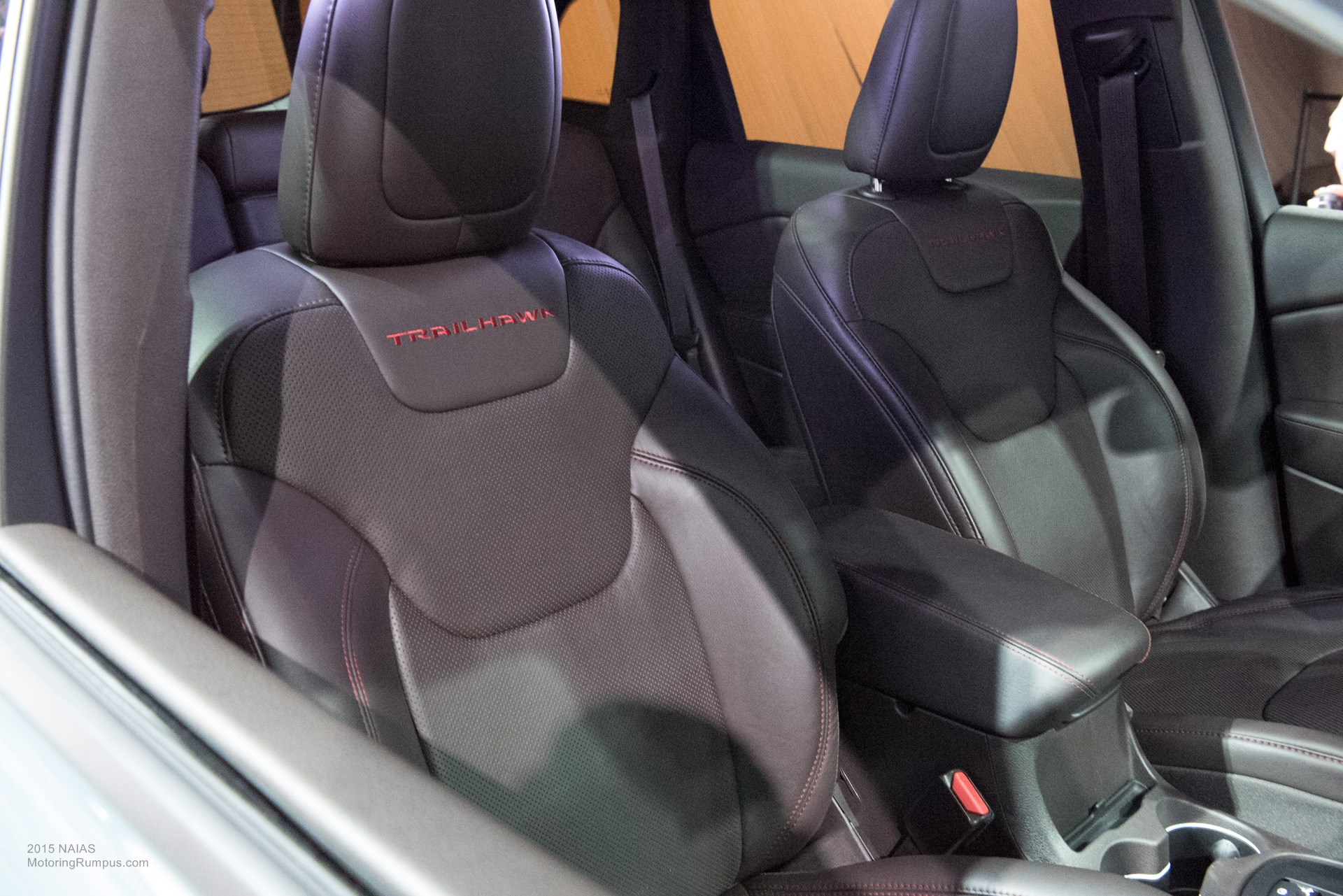 2015 NAIAS Jeep Cherokee Trailhawk Seats