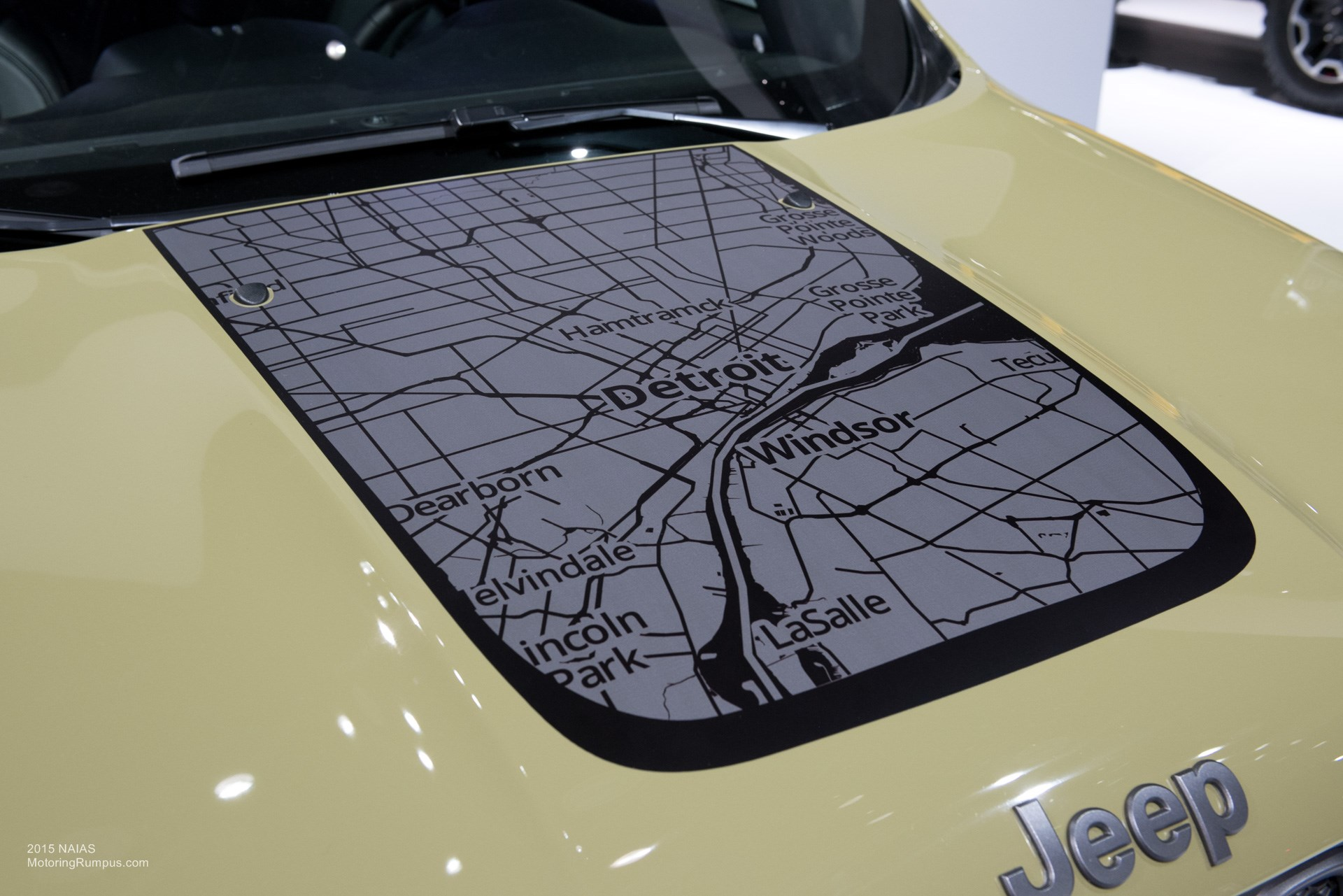 2015 NAIAS Jeep Renegade Hood Map Decal