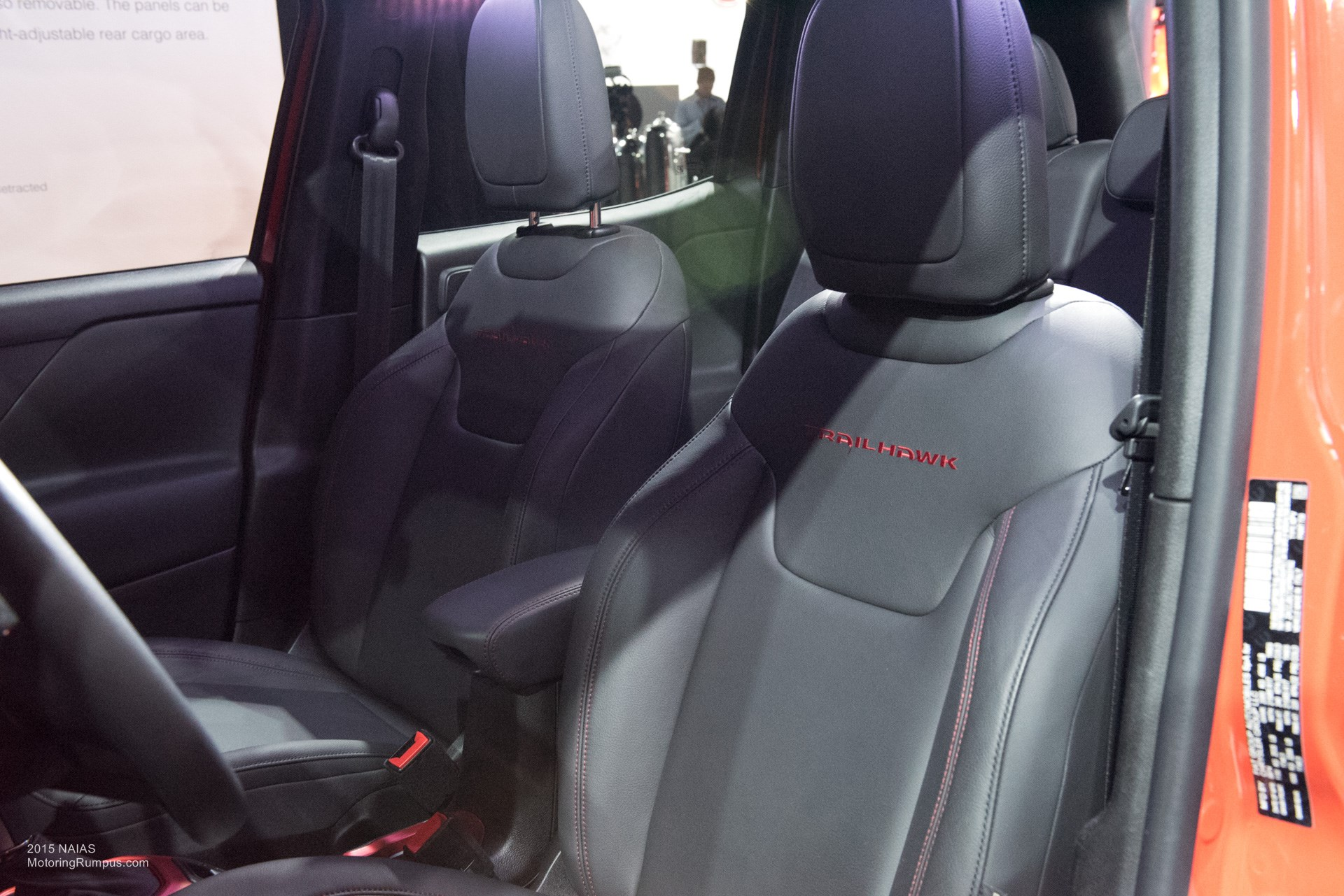 2015 NAIAS Jeep Renegade Trailhawk Seats