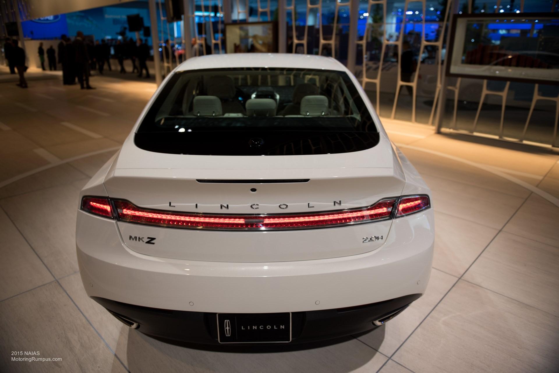 2015 NAIAS Lincoln MKZ Rear