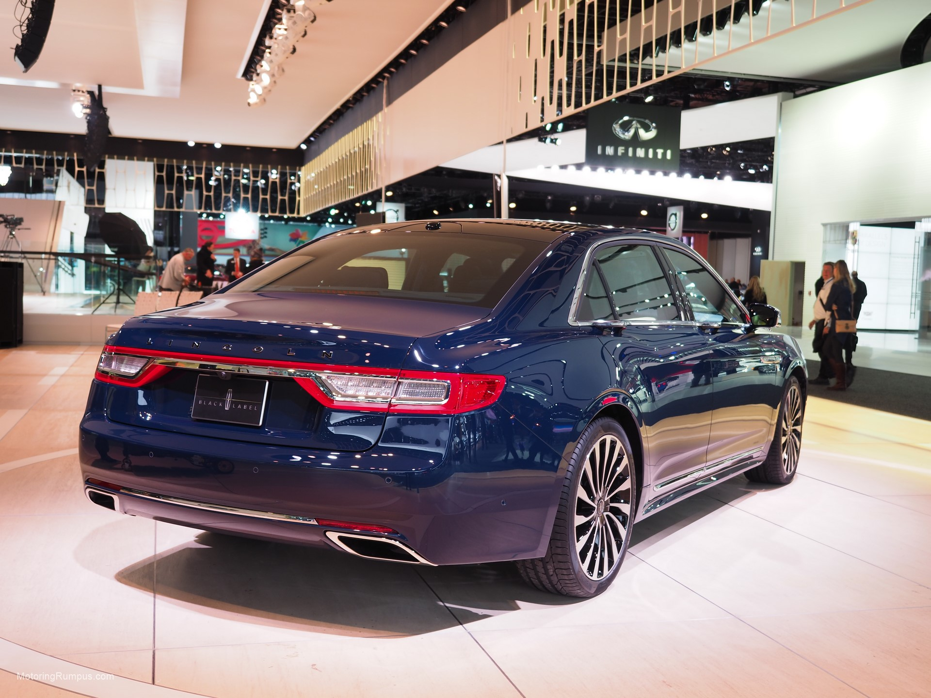 2016 NAIAS 2017 Lincoln Continental Black Label Rear