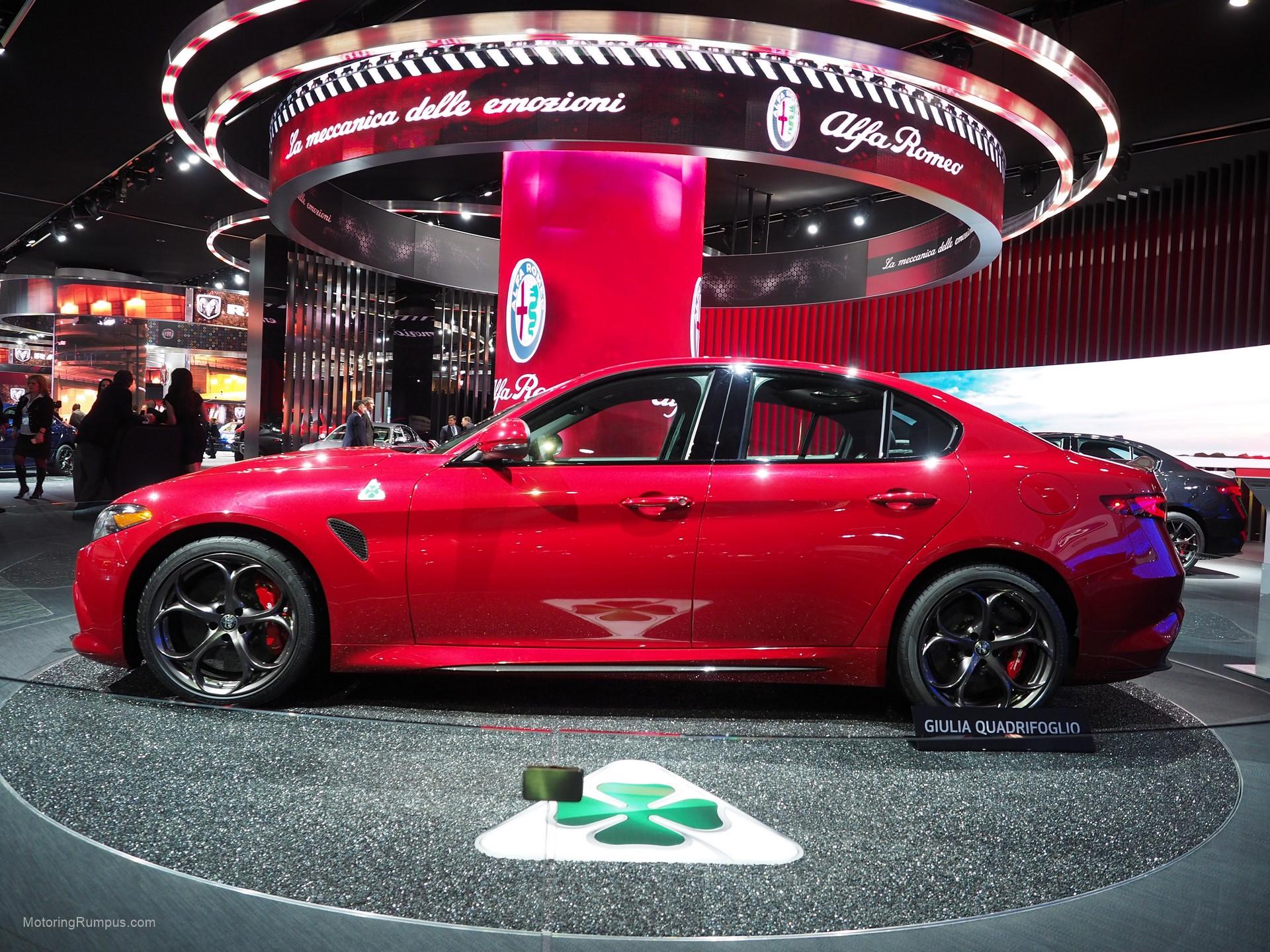 2016 Naias Alfa Romeo Giulia Quadrifoglio Red Motoring