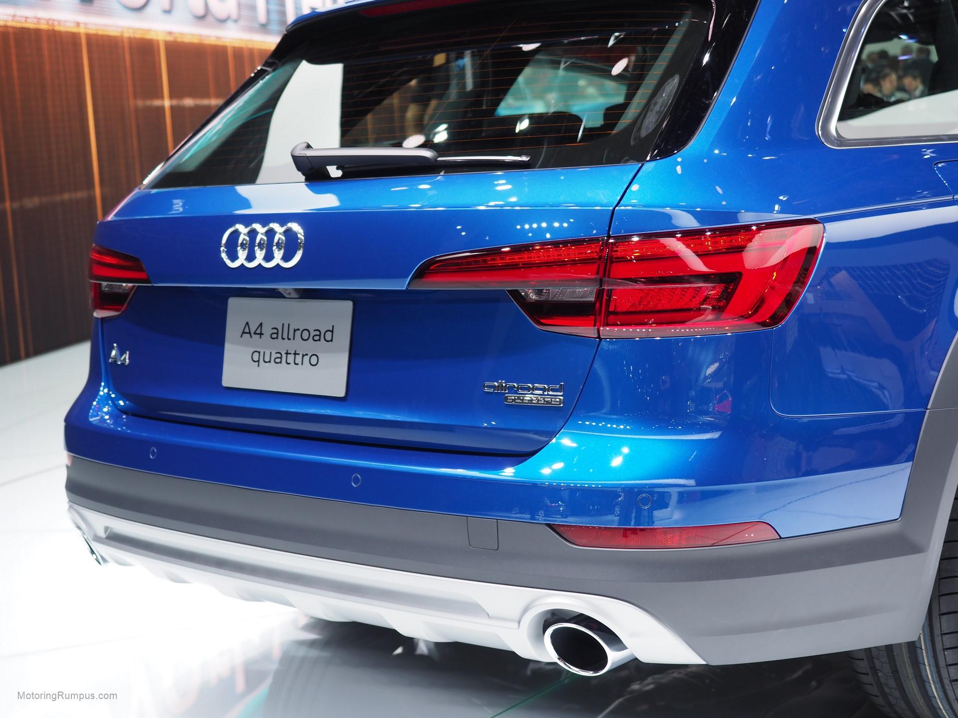 2016 Naias Audi A4 Allroad Rear Motoring Rumpus