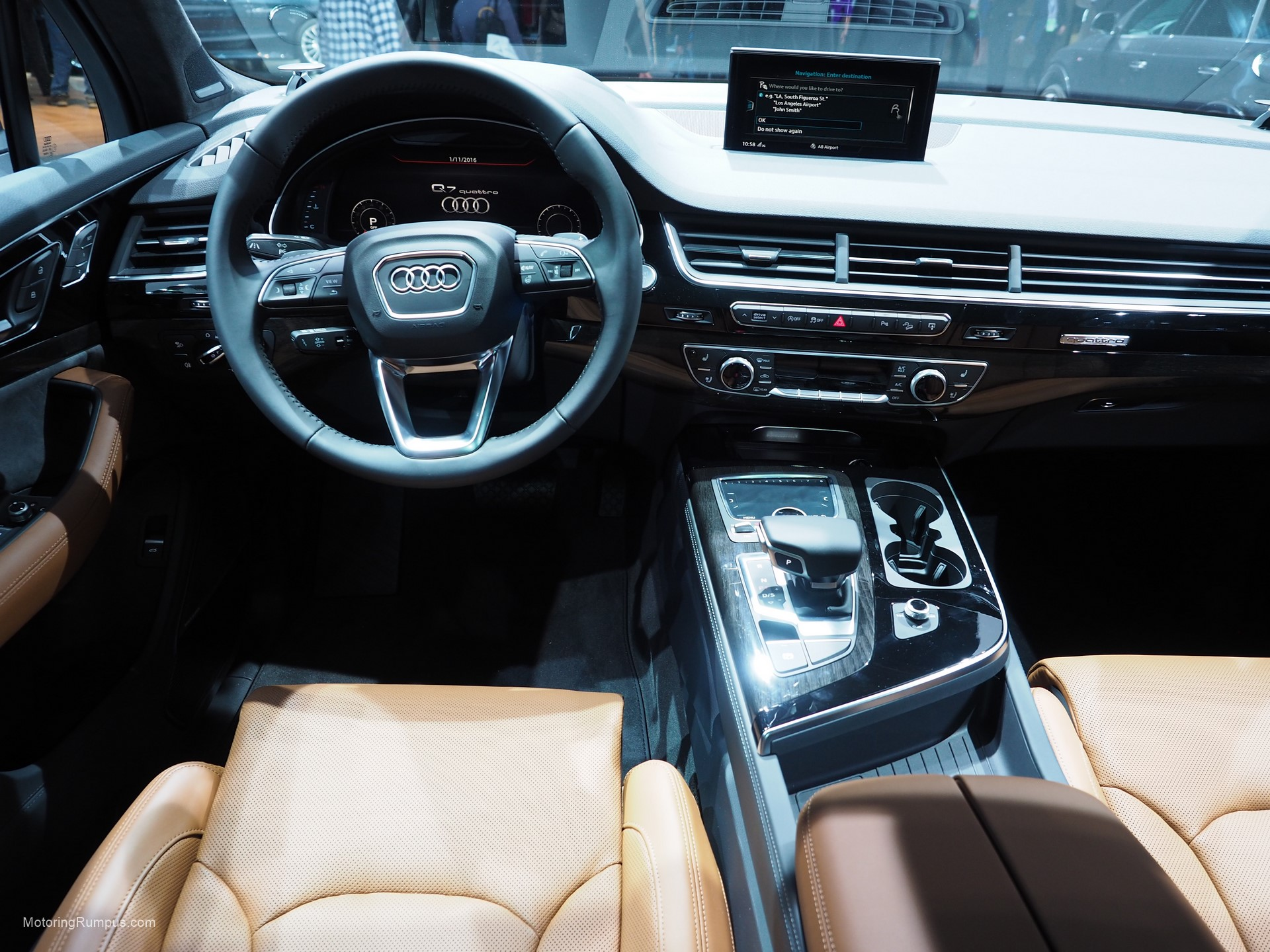 2016 Naias Audi Q7 Interior Motoring Rumpus