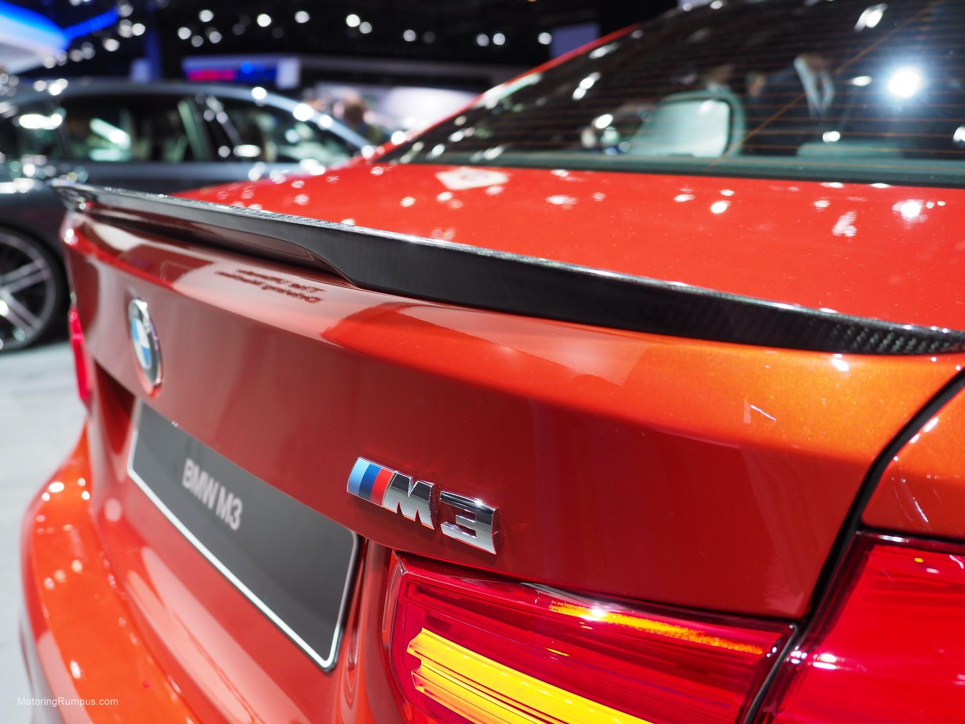 2016 NAIAS BMW M3 Carbon Fiber Spoiler