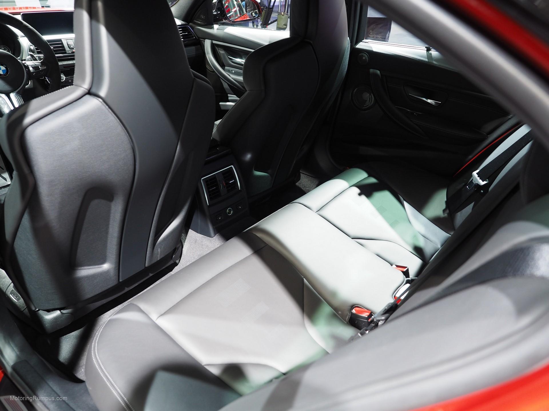 2016 NAIAS BMW M3 Rear Seats