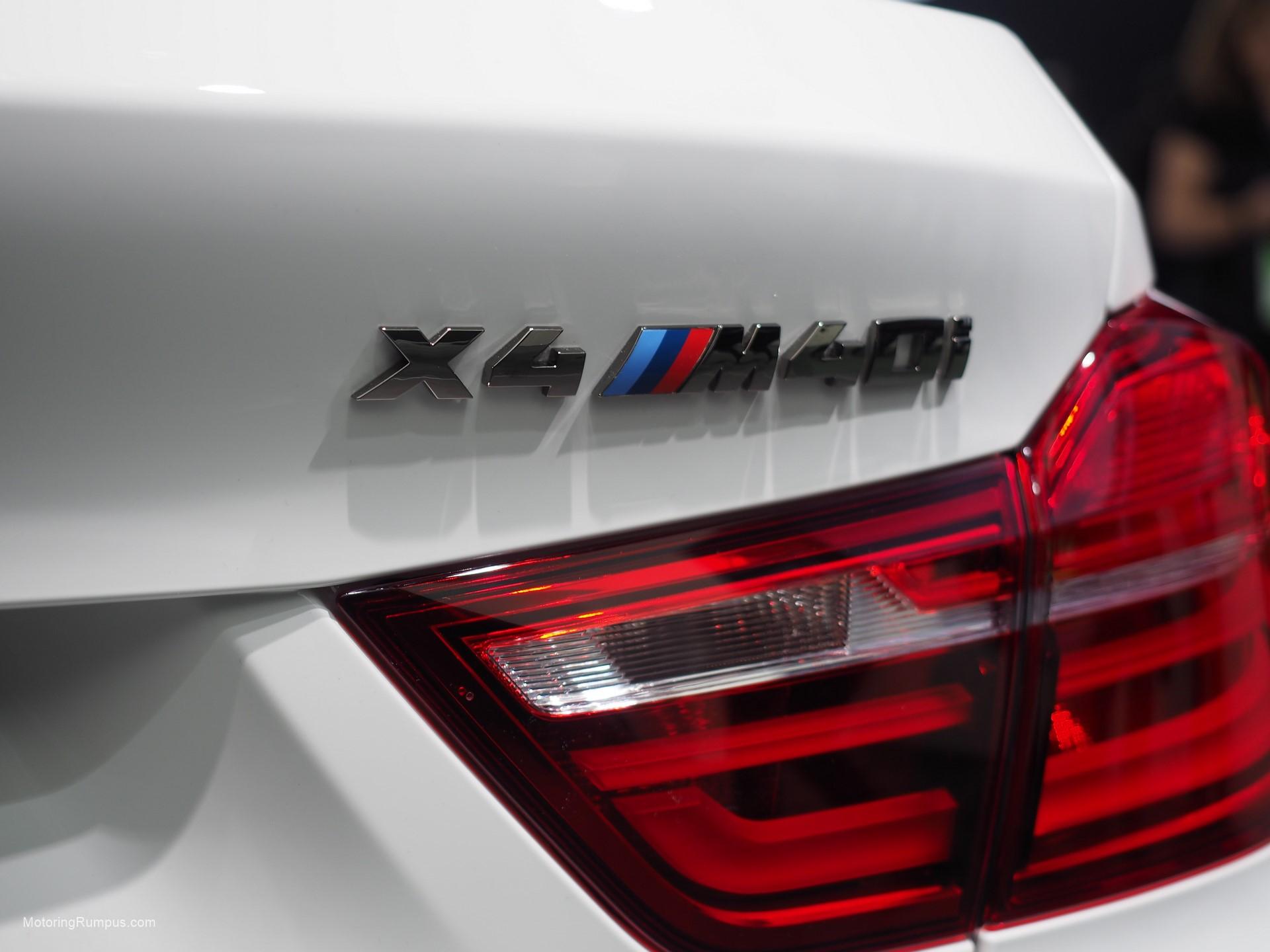 2016 NAIAS BMW X4 M40i Rear Badge