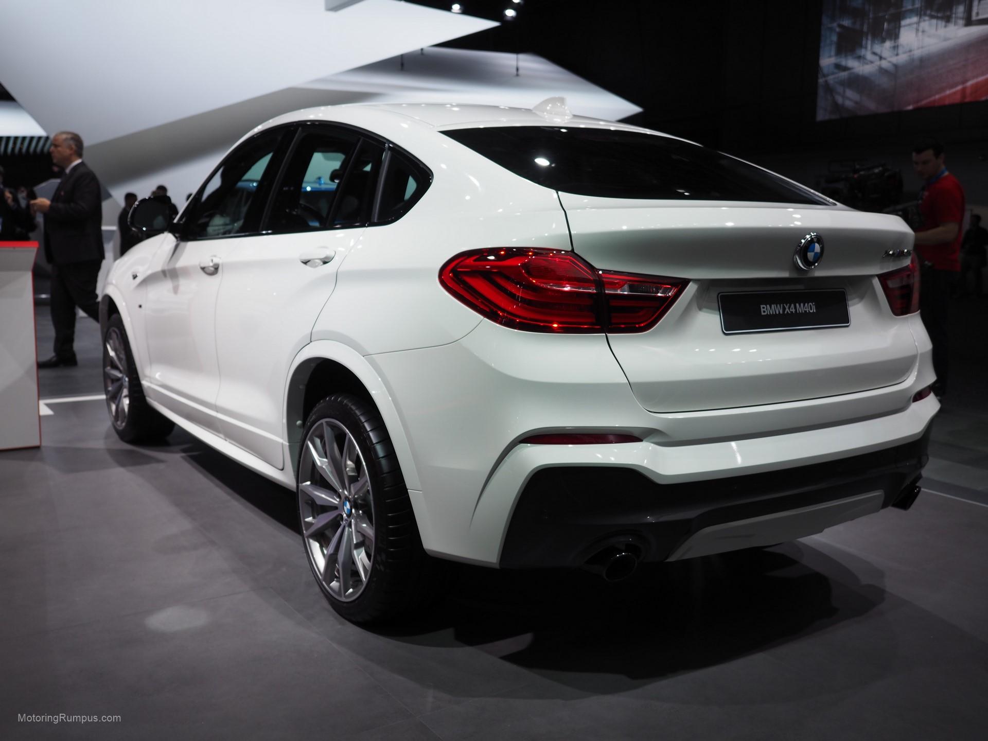2016 NAIAS BMW X4 M40i Rear